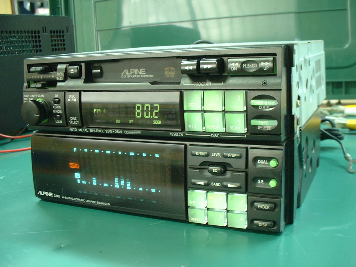 Alpine 7292js 3348 Set Operation Ok Secondhand Goods Car The Stereo Cassette Player