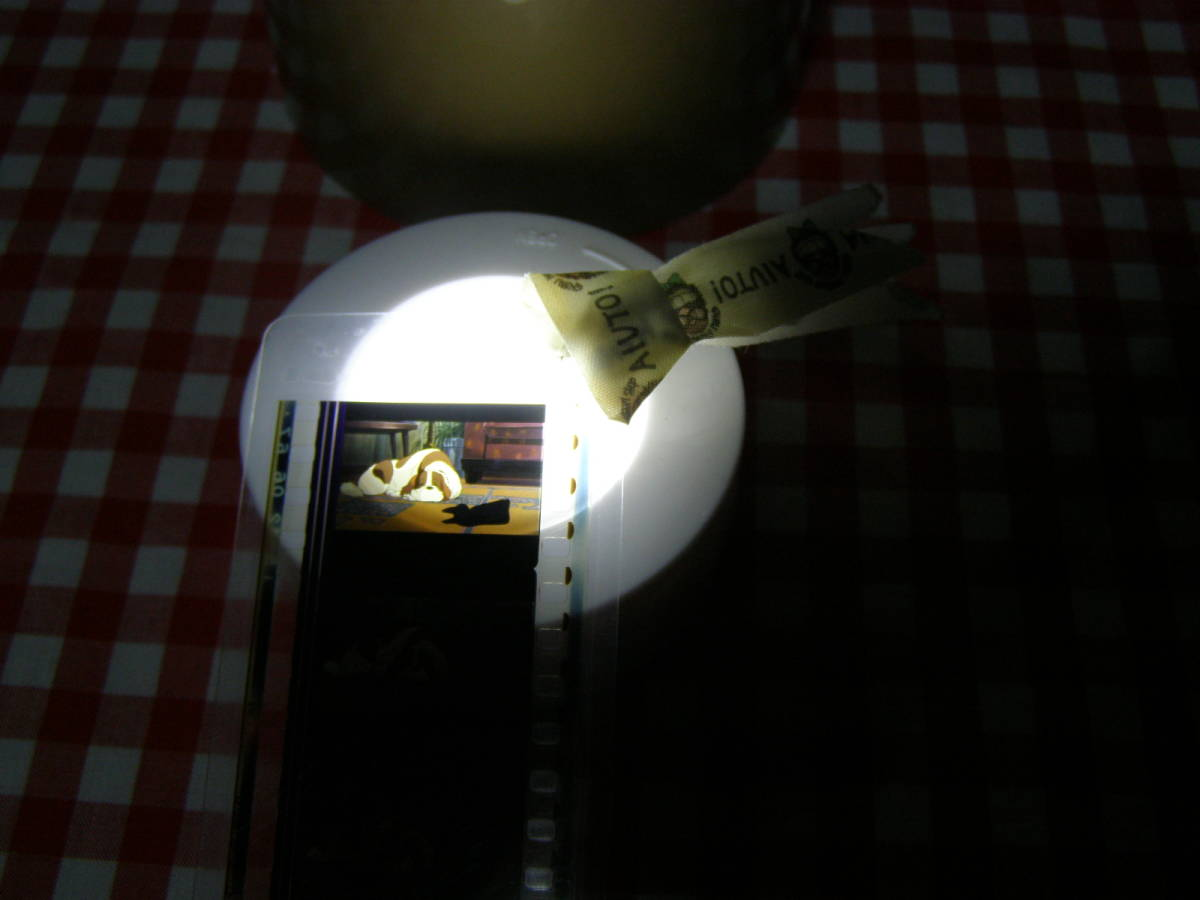 レア≪魔女の宅急便  ジジ ジェフ 名場面 フィルムブックマーカー≫ しおり 上演フィルムをパウチ  スタジオ ジブリ 黒猫 犬_画像3