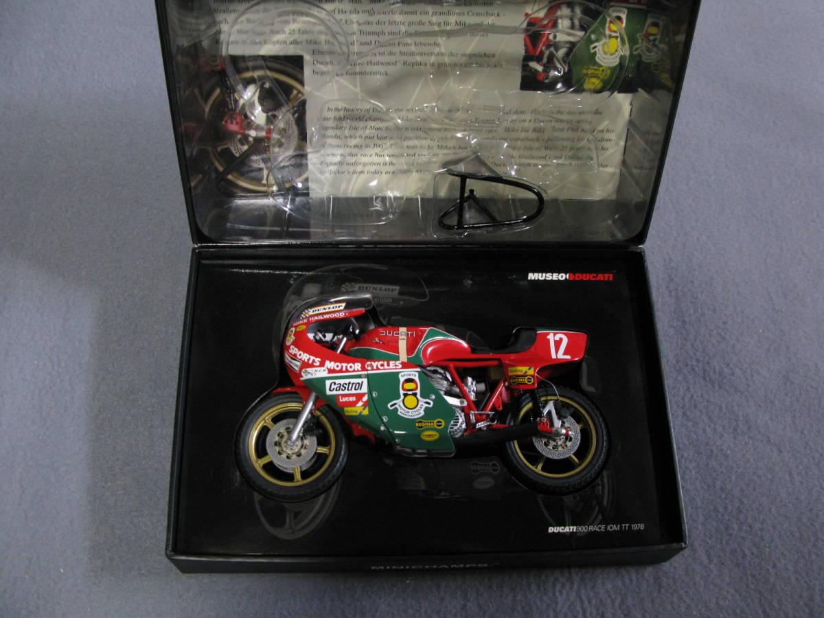 ミニチャンプス Minichamps 1/12 Mike Hailwood Ducati 900 Racer IOM TT 1978 希少【送料込み】_画像2