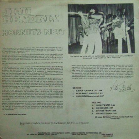 3枚で送料無料【加Nardem】Jimi Hendrix/Hornets Nest_画像3