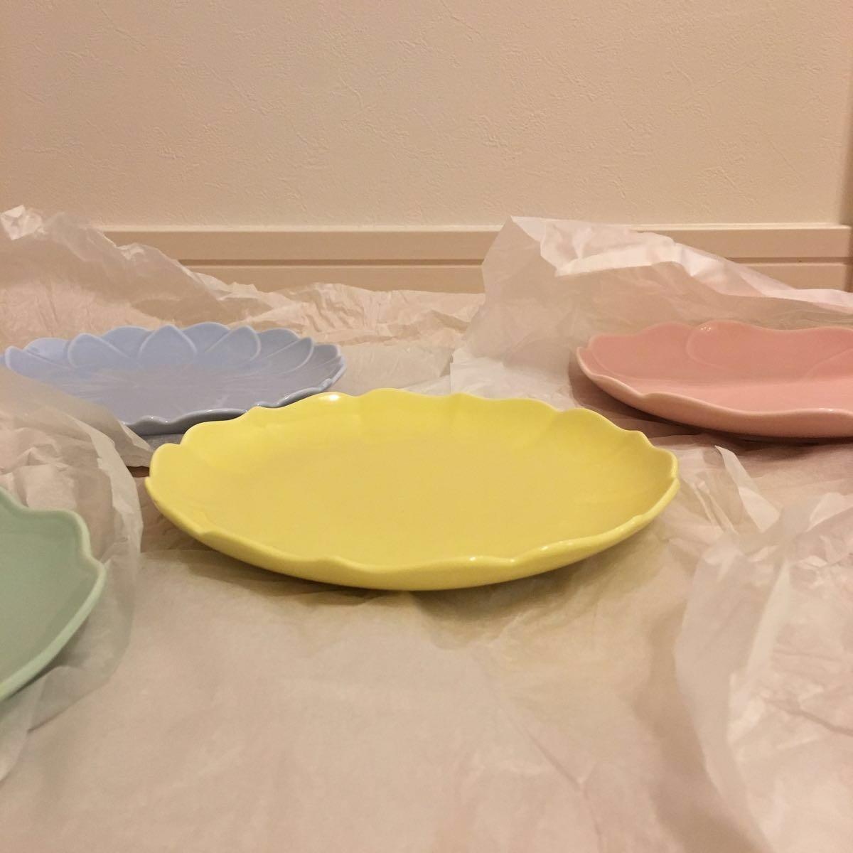 栗原はるみ KURIHARA HARUMI お皿セット 5枚 5色 花柄 花 直径約17cm 新品未使用品_画像8