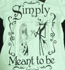 新品 海外限定 Tシャツ L meant to be ナイトメアビフォアクリスマス ジャック&サリー