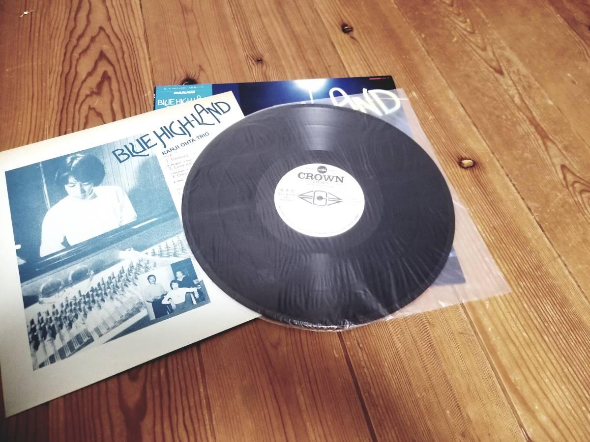 ☆希少!和ジャズ LP 太田寛二トリオ 見本盤 BLUE HIGH-LAND 帯有り CROWN GGP-8 1982年 ☆_画像3
