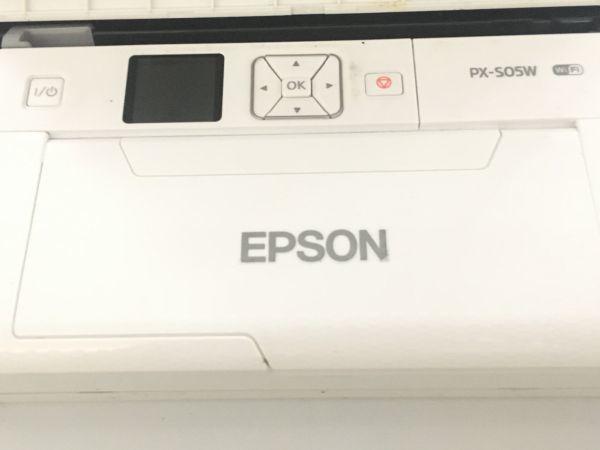 EPSON エプソン A4対応 モバイルプリンター PX-S05W wi-fi対応 ホワイト F007005_画像2