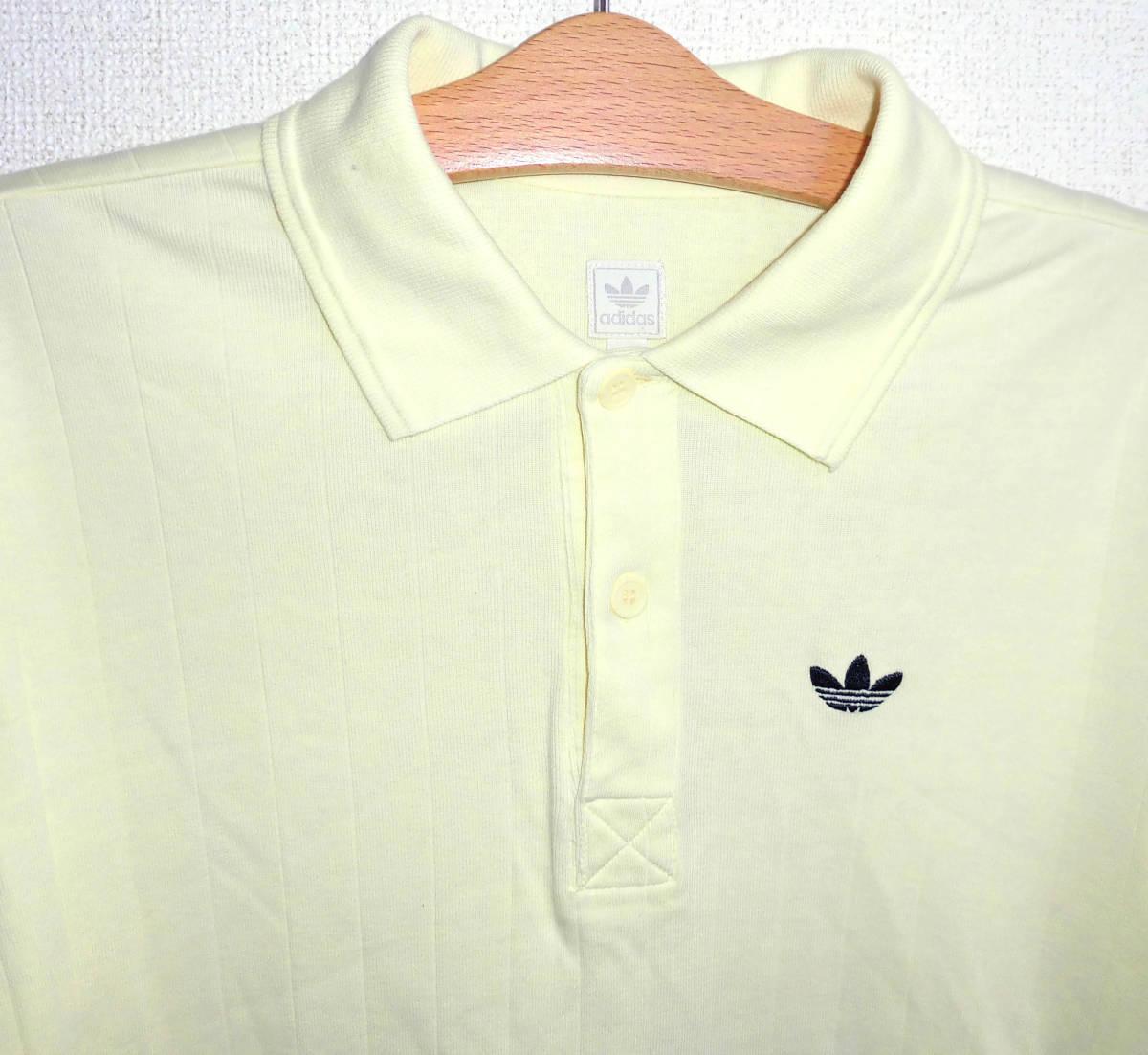 美品 アディダスオリジナルス トレフォイル刺繍 ポロシャツ S adidas originals