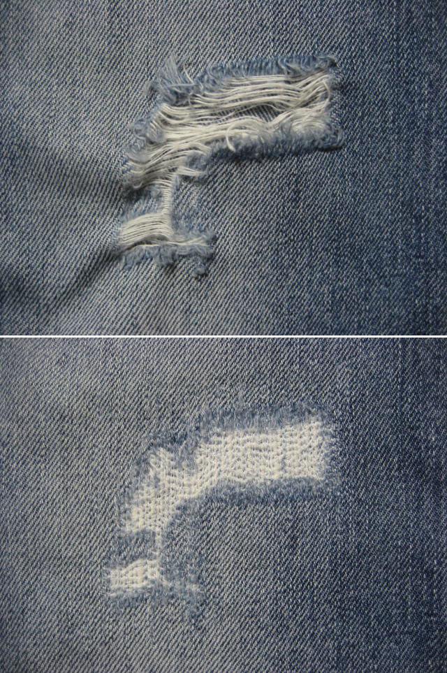 膝・太腿ダメージジーンズ修理/ファスナー交換/お手頃価格で承りますb_画像7