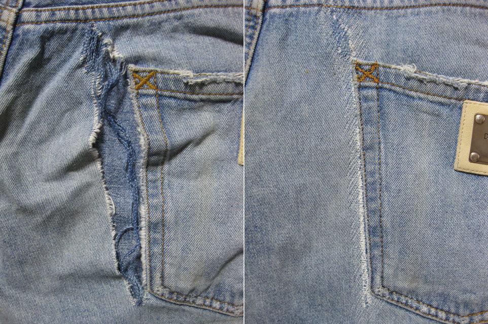 膝・太腿ダメージジーンズ修理/ファスナー交換/お手頃価格で承りますb_画像10