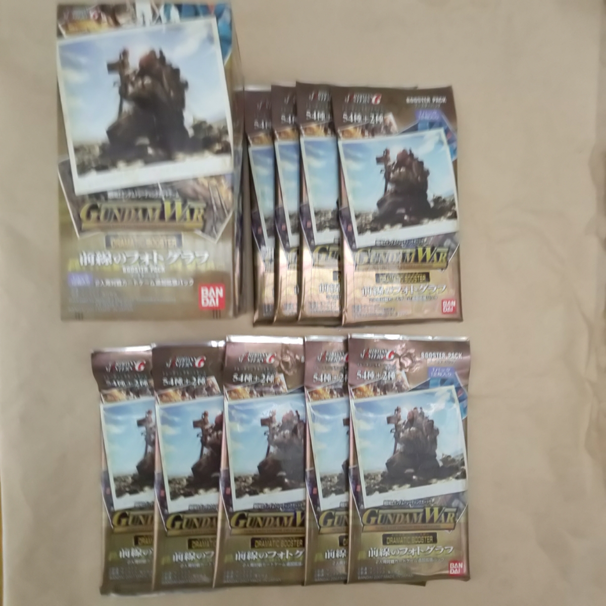 2007年 カードダスマスターズ ガンダムウォー 前線のフォトグラフ 9パック 108枚