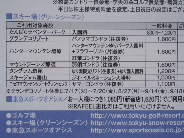 東急不動産 株主優待券 東急スポーツオアシス 2枚セット2019/1/31迄