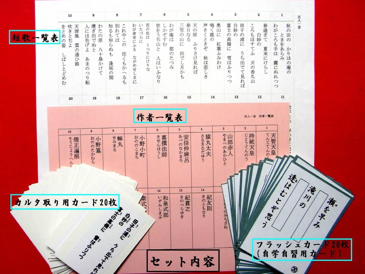 ♪ 百人一首の中から20首を選んで自学自習カードとカルタ取り用カードにしました。_画像10