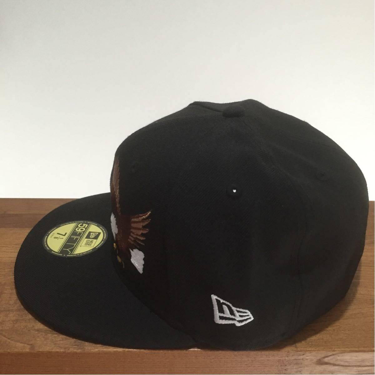 NEW ERA ニューエラ 59FIFTY スカジャンカスタム イーグル 鷲 刺繍 キャップ 帽子 野球帽 7 1/8 56.8cm 新品未使用 正規品 希少 限定 レア_画像3