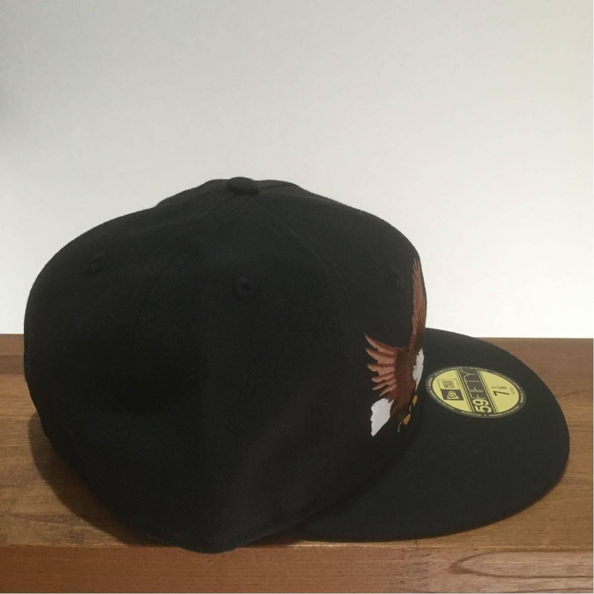 NEW ERA ニューエラ 59FIFTY スカジャンカスタム イーグル 鷲 刺繍 キャップ 帽子 野球帽 7 1/8 56.8cm 新品未使用 正規品 希少 限定 レア_画像4