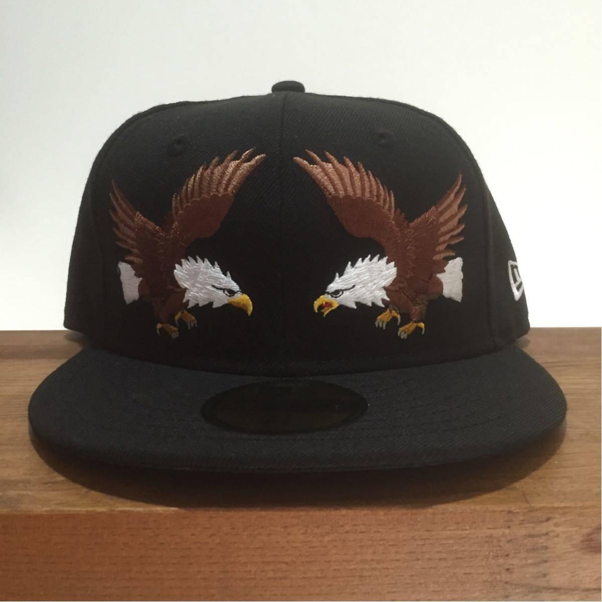 NEW ERA ニューエラ 59FIFTY スカジャンカスタム イーグル 鷲 刺繍 キャップ 帽子 野球帽 7 1/8 56.8cm 新品未使用 正規品 希少 限定 レア_画像1