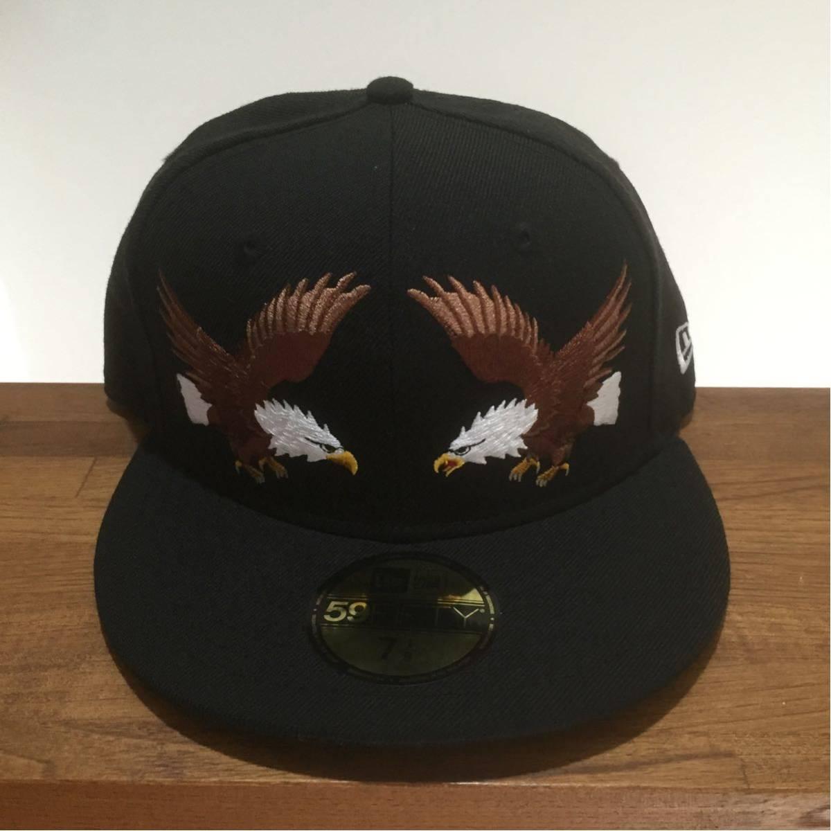 NEW ERA ニューエラ 59FIFTY スカジャンカスタム イーグル 鷲 刺繍 キャップ 帽子 野球帽 7 1/8 56.8cm 新品未使用 正規品 希少 限定 レア_画像2