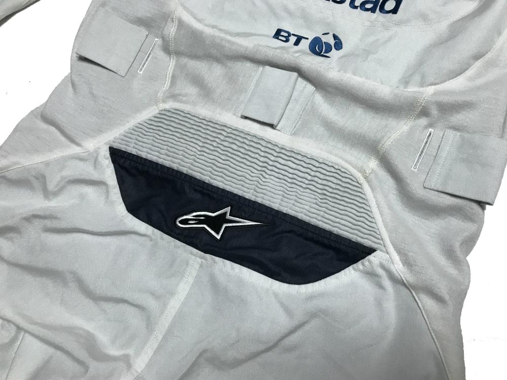 ウィリアムズ 2017アブダビGP 支給品 ノーメックス・クルースーツ 54     alpinestars 非売品 AMG マッサ ストロール_画像10