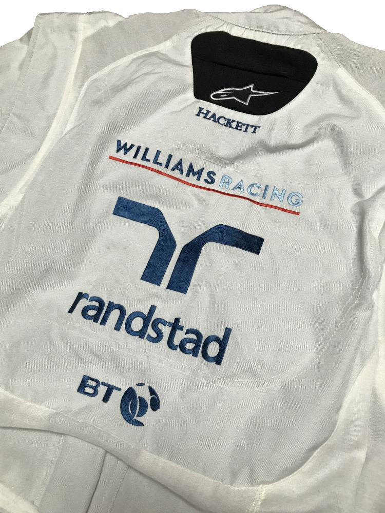 ウィリアムズ 2017アブダビGP 支給品 ノーメックス・クルースーツ 54     alpinestars 非売品 AMG マッサ ストロール_画像7