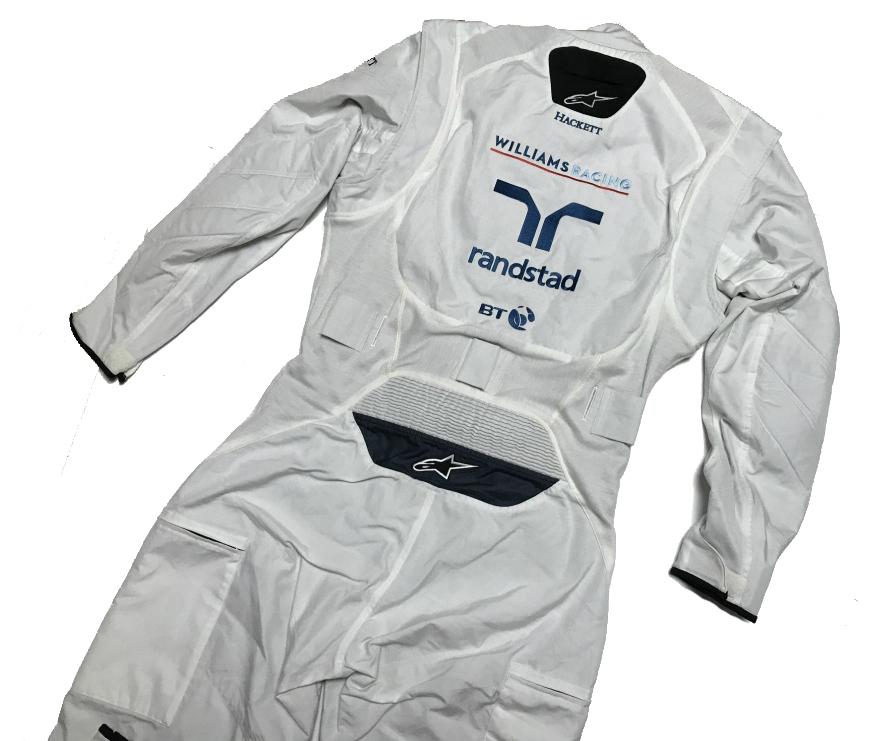 ウィリアムズ 2017アブダビGP 支給品 ノーメックス・クルースーツ 54     alpinestars 非売品 AMG マッサ ストロール_画像2