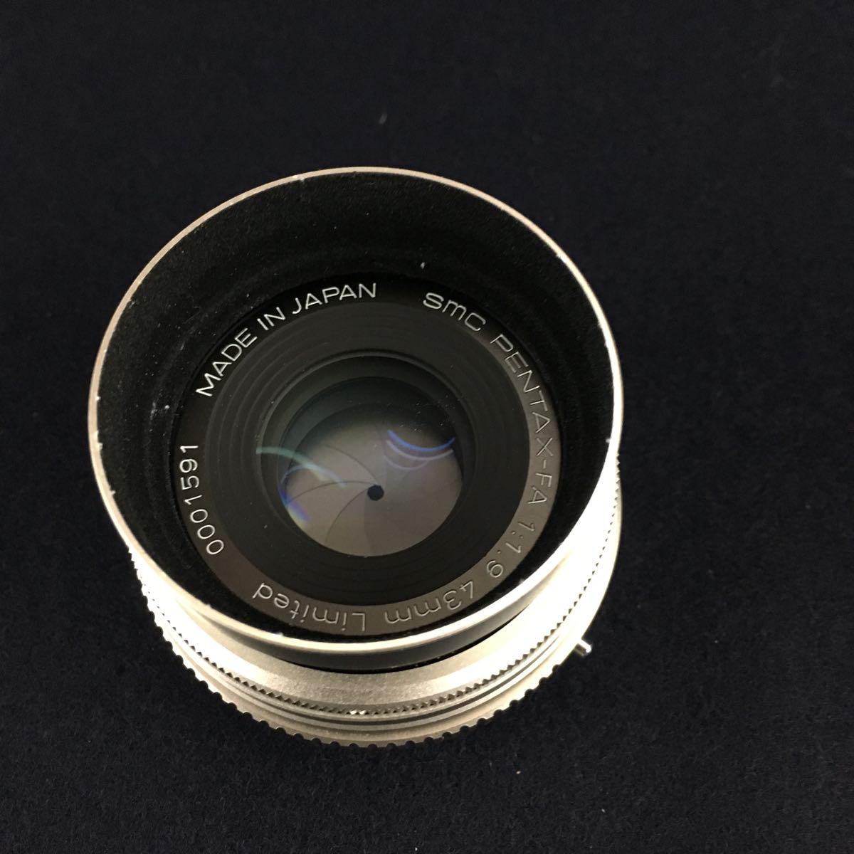 PENTAX-FA 43mm 1.9 Limited / FA 28-200mm 3.8-5.6 オートフォーカスレンズ2点_画像5