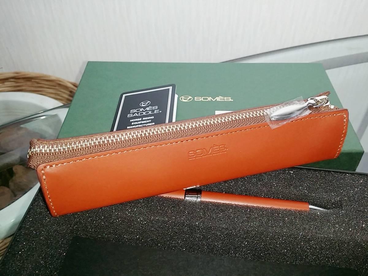 ソメスサドル SOMES SADDLE ボールペン ペンケース セット コカコーラ記念品_画像2