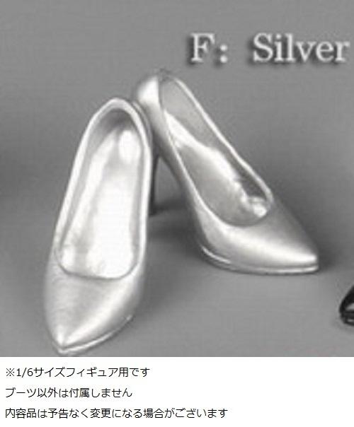 ZY-TOYS 1/6フィギュア用 ハイヒール 銀色 ZY15-1F_画像2
