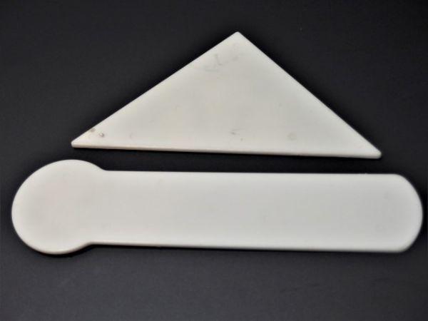 激レア 「魔法のプリンセスミンキーモモ」 かわいいスケール 直定規7cm・5cm三角定規 2枚組 中古 _画像4
