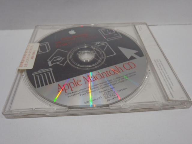 Apple Macintosh CD 漢字 Talk 7.5 システムソフトウェア 94年 CD-ROM_画像2