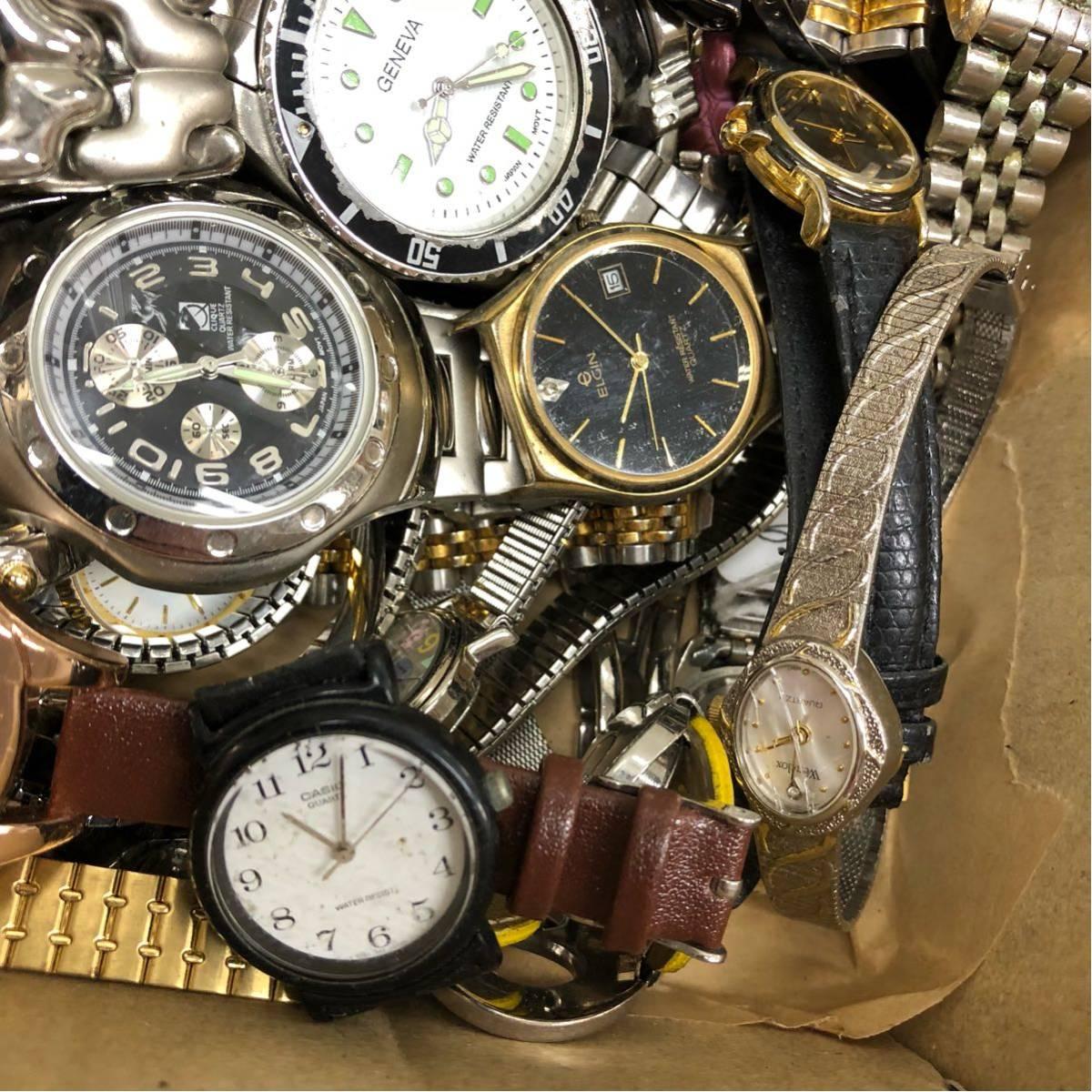 019 腕時計 300個以上 大量 まとめて ジャンク SEIKO GRUEN WALTHAM CITIZEN CASIO GUESS ELGIN WESTCLOX お宝あるかも_画像6