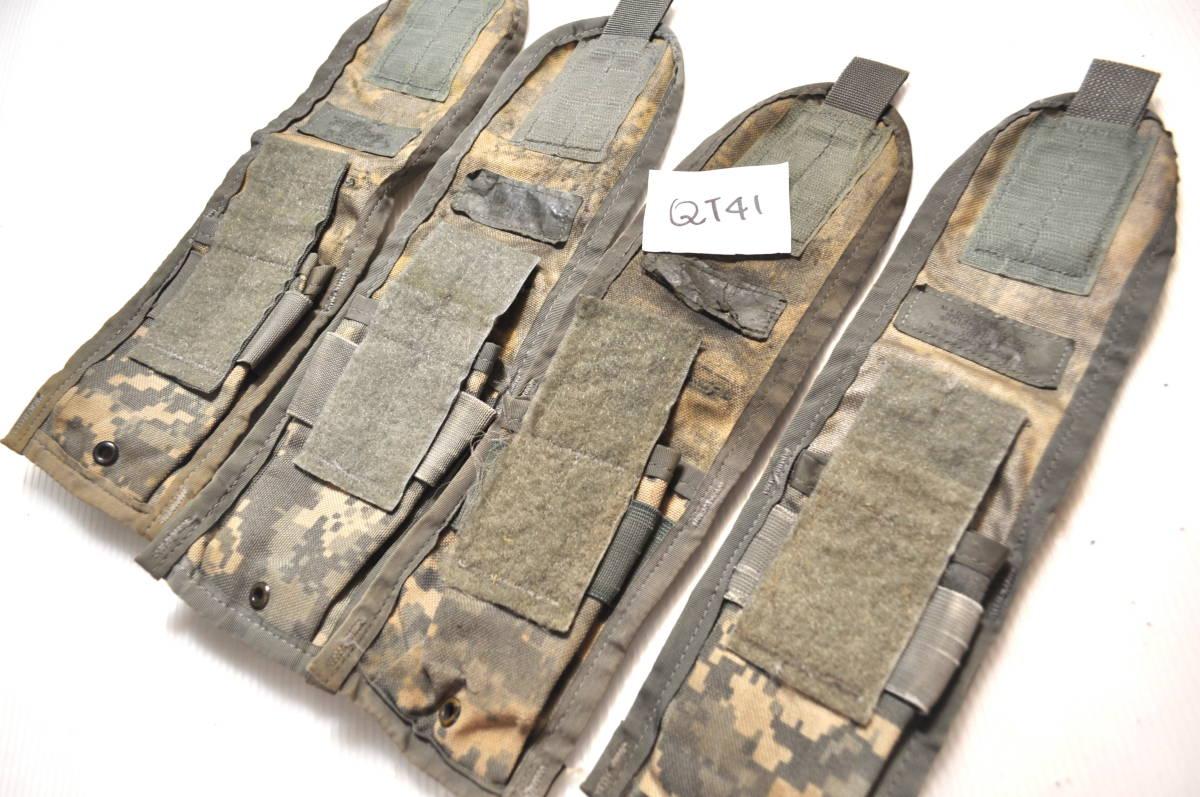 実物 US ARMY 米軍放出品 ACU デジタル迷彩 MOLLE M4 M16 HK416シリーズ用 ダブルマガジンポーチ 4つ 中古 Ac_画像3
