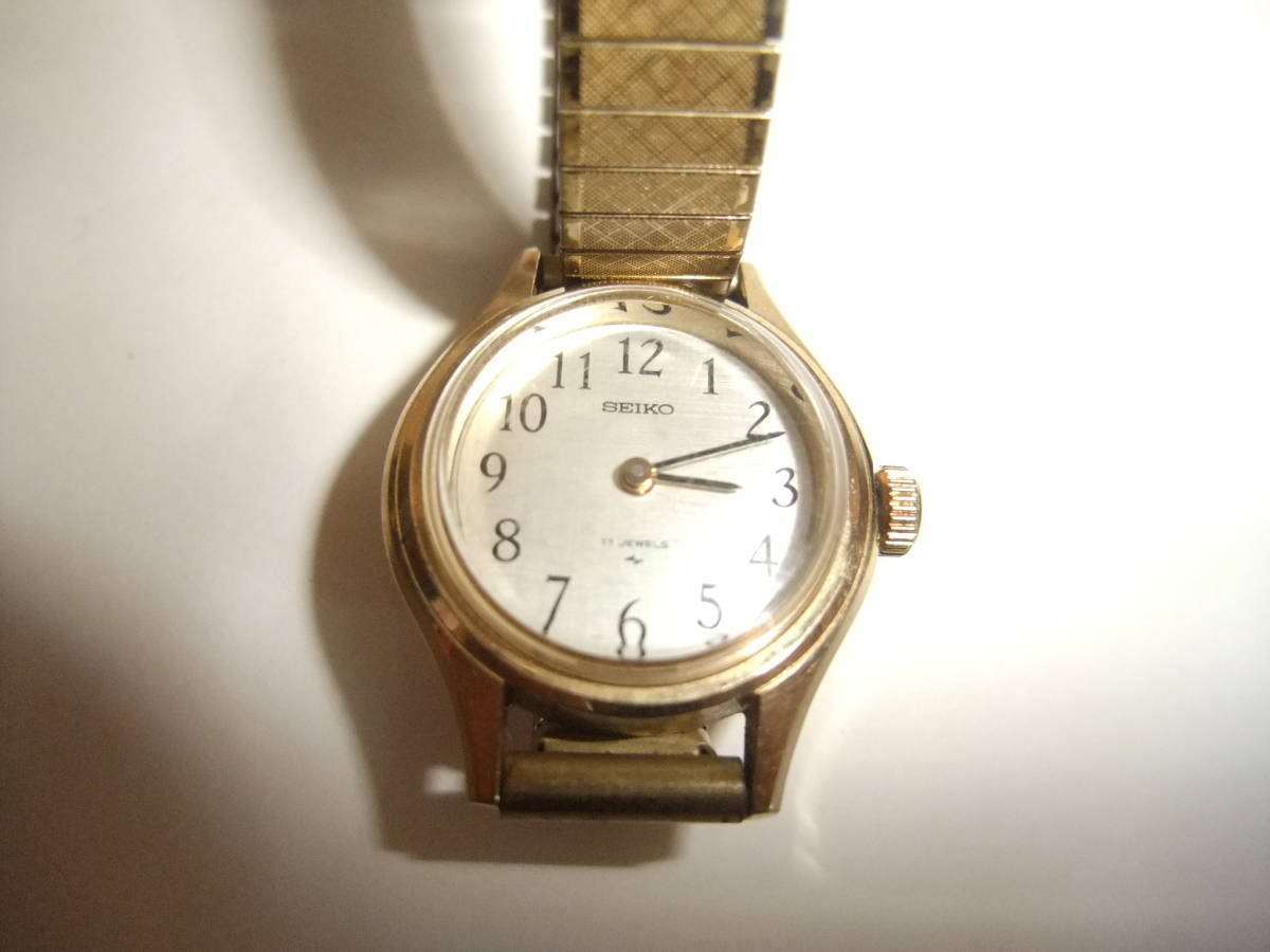 A little old SEIKO 17 Ishite winding women also watch