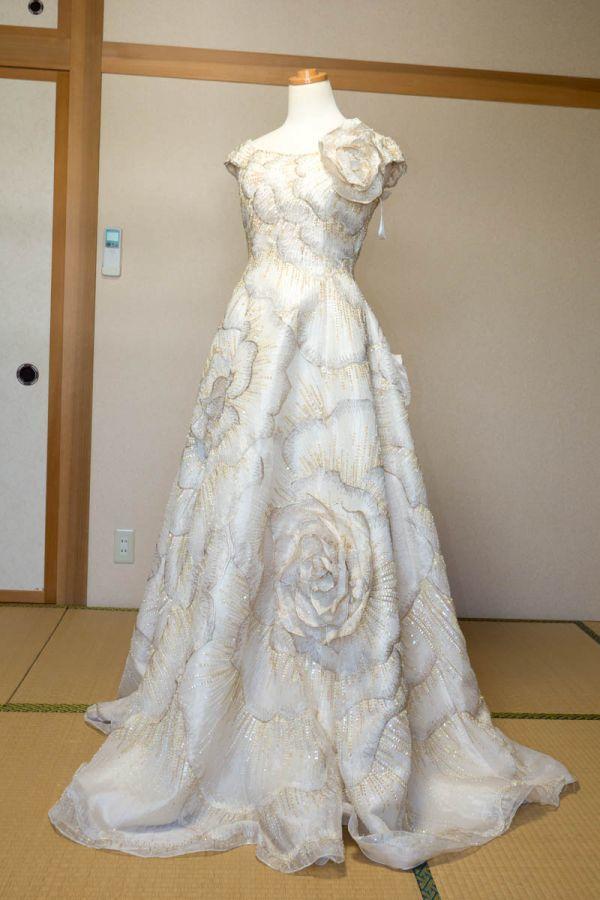 カラードレス,パーティドレス◆アイボリー◆9T◆結婚式,挙式,披露宴,舞台,劇,踊り,発表会,ステージ,衣装