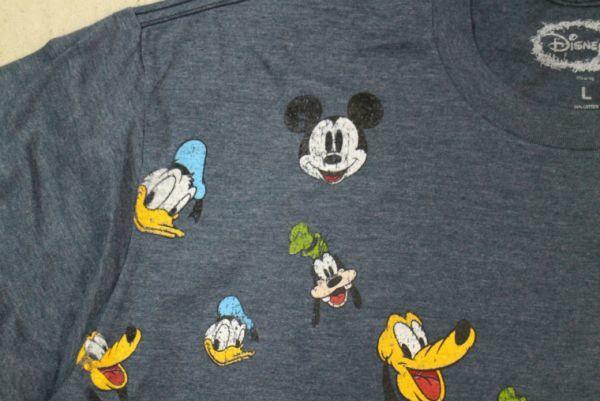 【古着レアDISNEY MICKEY MINNIE キャラクター総柄 TシャツL】ディズニーランドミッキーミニーキャラクターミッキーミニーキャラクター7319_画像5