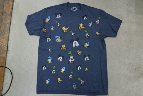 【古着レアDISNEY MICKEY MINNIE キャラクター総柄 TシャツL】ディズニーランドミッキーミニーキャラクターミッキーミニーキャラクター7319_画像2