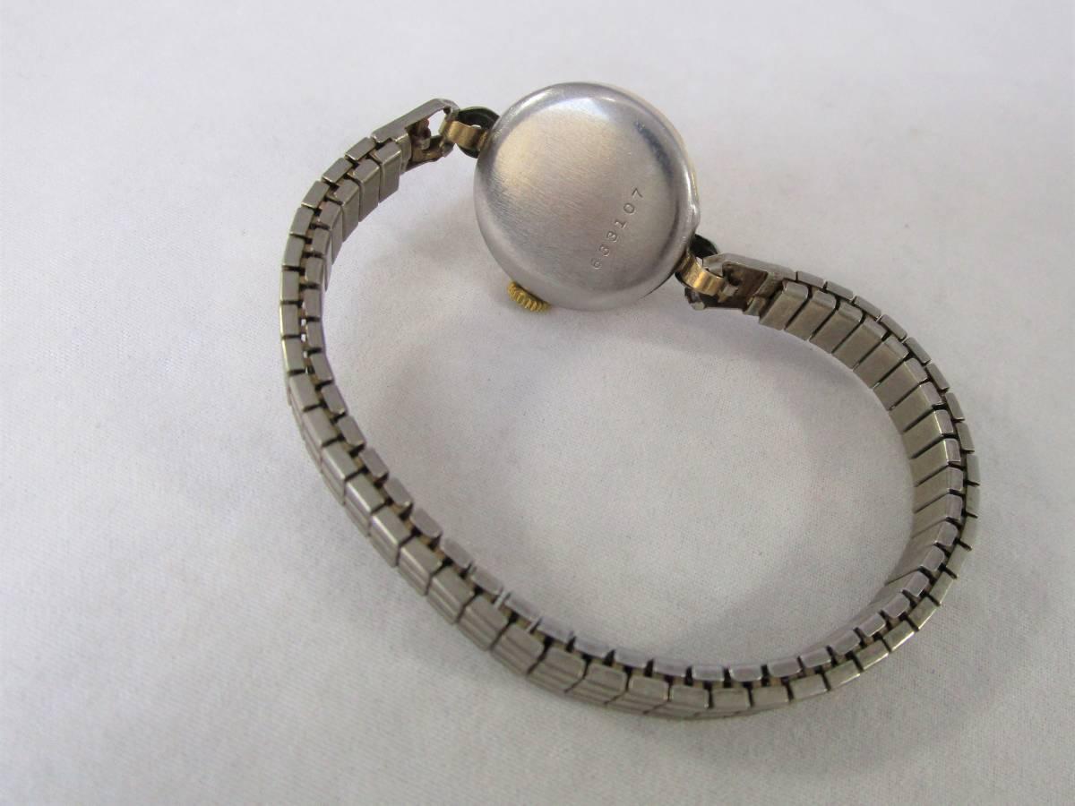 BENRUS ベンラス アンティーク ビンテージ 手巻き 腕時計 15石搭載 ゴールド金色 スモールセコンド ベルト付 1940年代アメリカ ブランドUSA_画像9