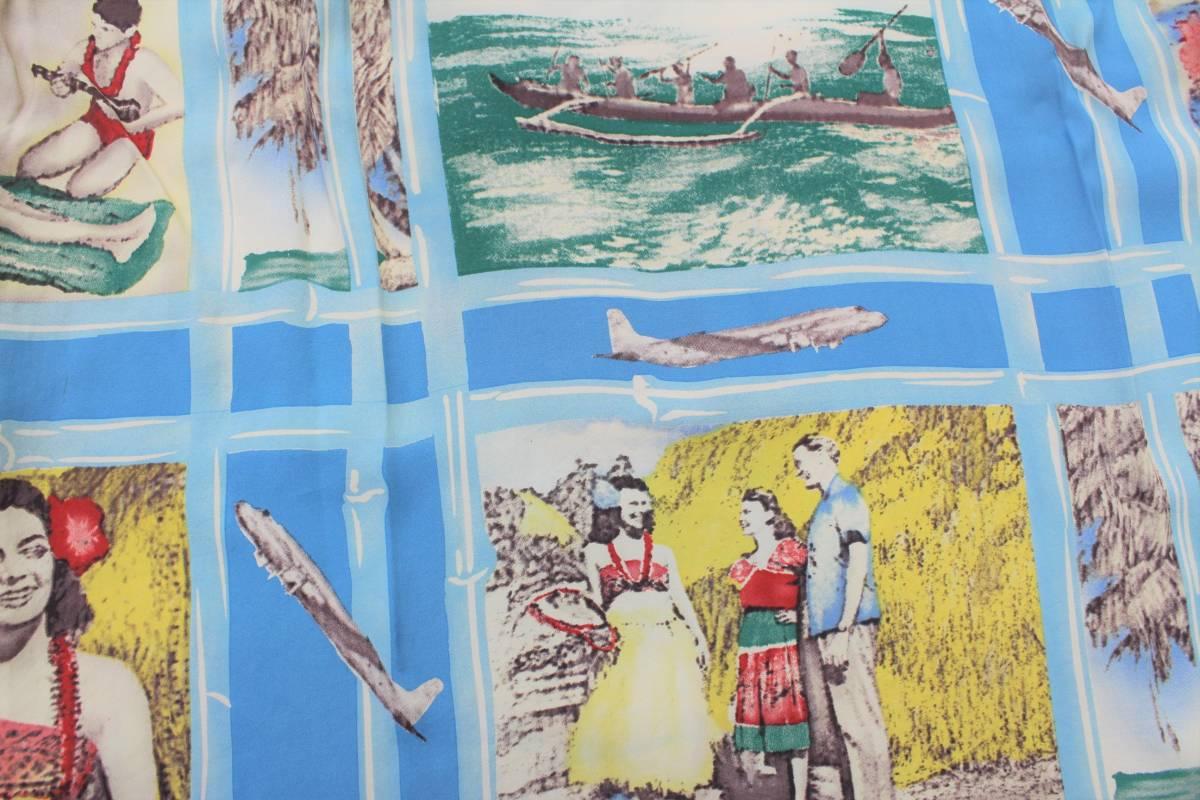 YHS39東洋Sパラダイス フラガール ココナッツボーイ ハワイ 半袖 アロハシャツSUN SURFサンサーフFLY TO THE PARADISEハワイアンシャツ_画像5