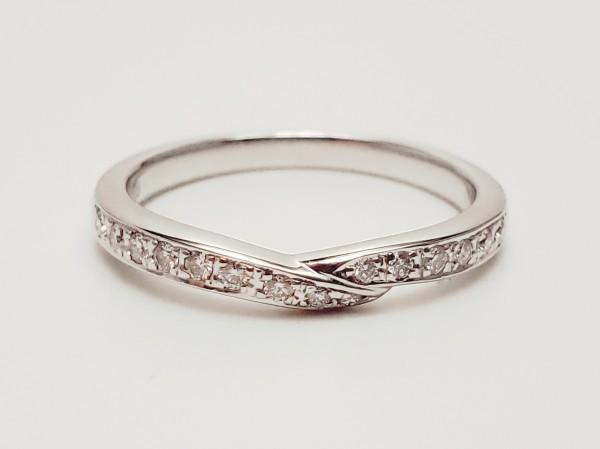 TASAKI Pt1000 ダイヤモンド0.14ct デザインリング 指輪 #14 田崎真珠 メレD 指輪 プラチナ ダイアモンド_画像2