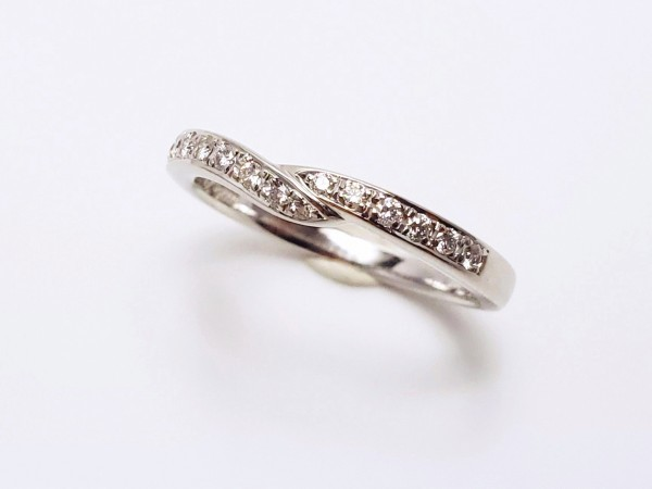 TASAKI Pt1000 ダイヤモンド0.14ct デザインリング 指輪 #14 田崎真珠 メレD 指輪 プラチナ ダイアモンド_画像1