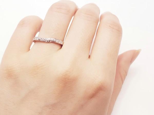 TASAKI Pt1000 ダイヤモンド0.14ct デザインリング 指輪 #14 田崎真珠 メレD 指輪 プラチナ ダイアモンド_画像6