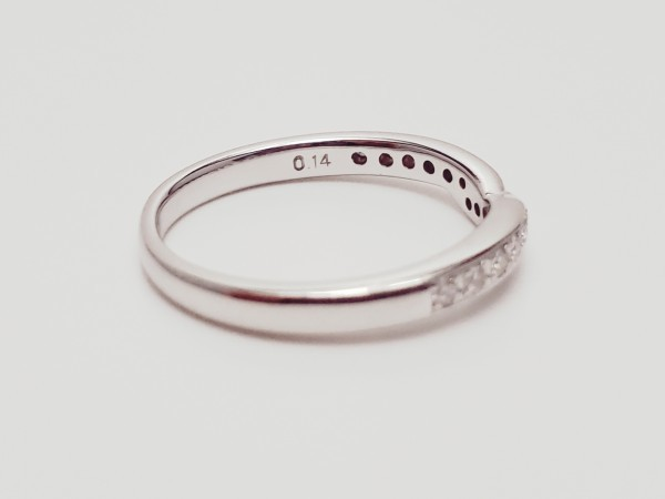 TASAKI Pt1000 ダイヤモンド0.14ct デザインリング 指輪 #14 田崎真珠 メレD 指輪 プラチナ ダイアモンド_画像5