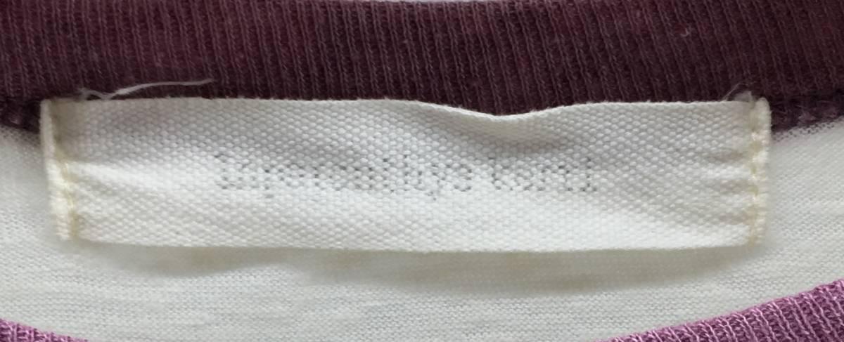 Inpaichthys Kerri Tシャツ ラグラン メンズ M プリント アイボリー × パープル 七分袖 トップス インパクティスケリー 18071002_画像3