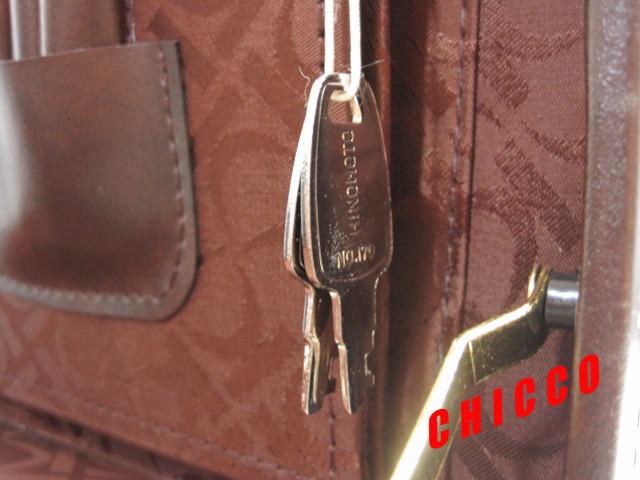 即決★日本製未使用★ECHOLAC アタッシュケース PVC こげ茶 42.5×32.5×9cm 鍵付き ビジネスバッグ 旅行鞄 トランクケース トラベル 美品_画像9