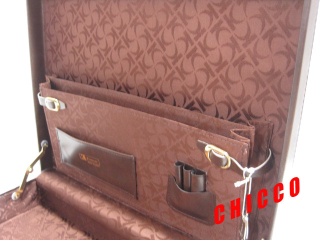 即決★日本製未使用★ECHOLAC アタッシュケース PVC こげ茶 42.5×32.5×9cm 鍵付き ビジネスバッグ 旅行鞄 トランクケース トラベル 美品_画像7
