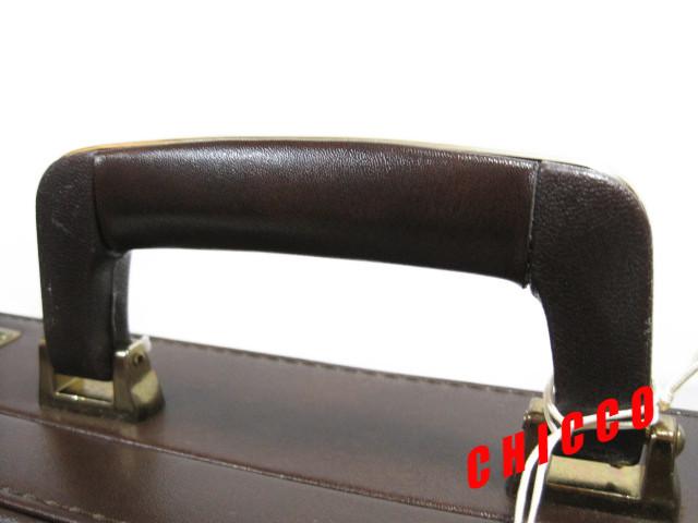 即決★日本製未使用★ECHOLAC アタッシュケース PVC こげ茶 42.5×32.5×9cm 鍵付き ビジネスバッグ 旅行鞄 トランクケース トラベル 美品_画像4