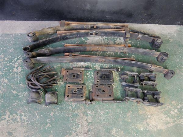 HR654 スズキ ジムニー リーフスプリング 1台分 板バネ サス JA11 RV 4WD 純正 紺色 ワイルドウインド