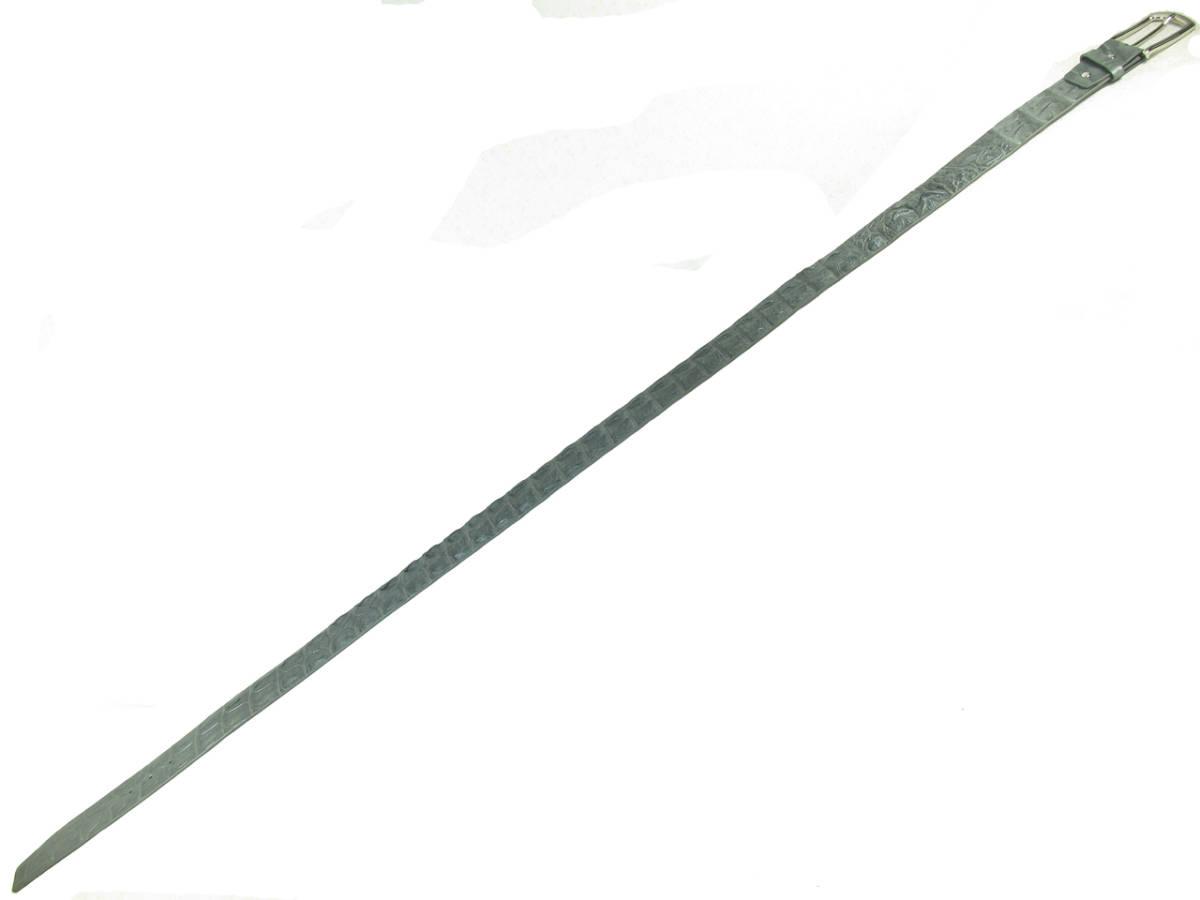 PELGIO高級なクロコダイル革のベルト★灰色★穴通し2_画像2
