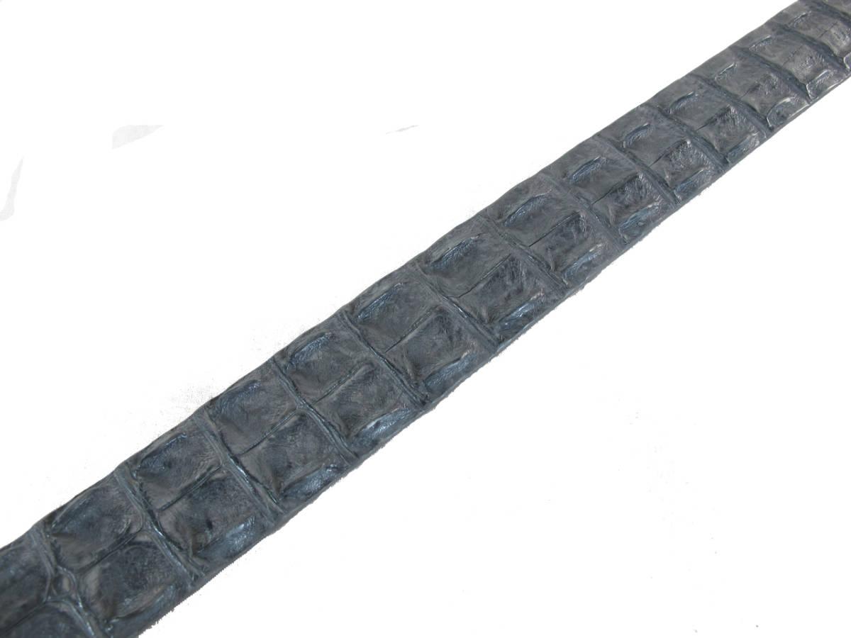 PELGIO高級なクロコダイル革のベルト★灰色★穴通し2_画像4