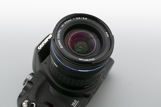 OLYMPUS 一眼レフカメラ レンズ 14-42㎜ 1:3.5-5.6ED レンズセット (E-410) 美品_画像6