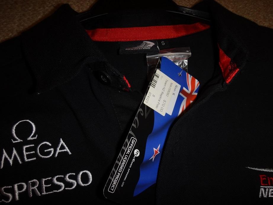 ★新品★アメリカズカップチームニュージーランドエミレーツチーム35回優勝ポロシャツS(日本ML)_画像3