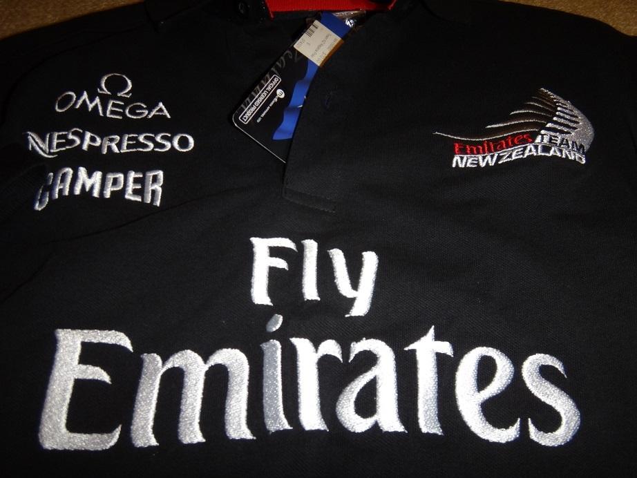 ★新品★アメリカズカップチームニュージーランドエミレーツチーム35回優勝ポロシャツS(日本ML)_画像4