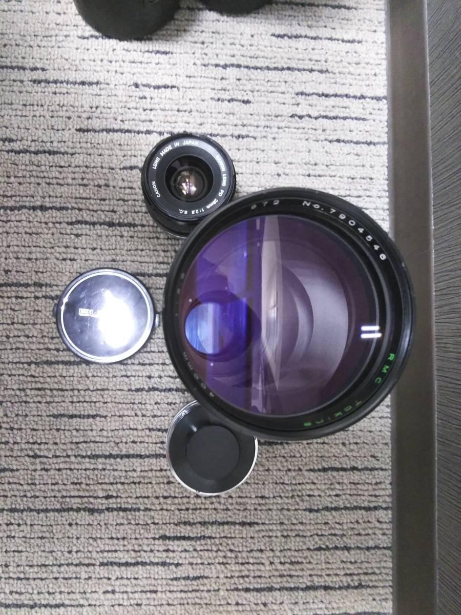 7-15 一眼レフ/レンズ おまとめ5点 Canon F-1 FD 50mm 1:1.4/AE-1/Tokina 400mm 1:1.4_画像10