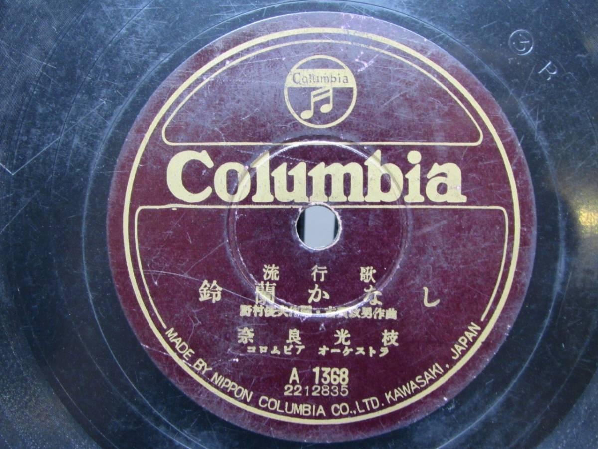 【SP盤】 霧島昇 「ギター月夜」 奈良光枝 「鈴蘭かなし」 コロンビア_画像2